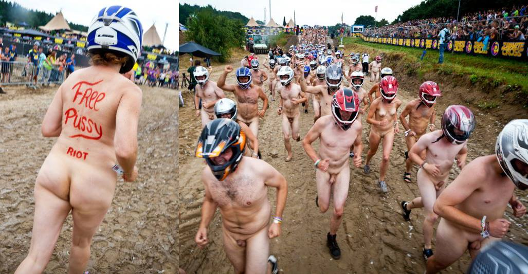 NAKED DIPLOMACY | 450 naked runners race as part of Free Pussy Riot campaign